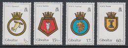Gibraltar 1982 Naval Arms 4v ** Mnh (44368) - Gibraltar