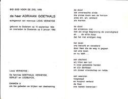 Adriaan Goethals (1934-1982) - Devotion Images