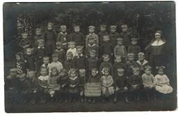 Carte Photo - 1914 - Frameries - Externat De La Providence - Classe Gardienne - 2 Scans - Frameries