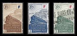 COLIS POSTAUX  1943 -  YT 200 à 202  - Livraison à Domicile - Oblitérés - Cote 9e - Colis Postaux