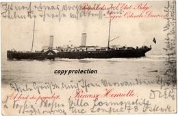 Paquebot Princesse Henriette, Ligne Ostende Douvres, Alte Ansichtskarte 1905 - Paquebots
