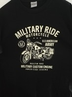 T SHIRT Noir US MILITARY RIDE AMERICAN LEGEND 1942 HARLEY Tailles S à XXL ( Tee Militaria Moto Biker ) - Voertuigen