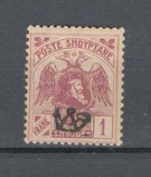 Albania 1922 Mino 81  L MLH* - Albanien
