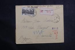 FRANCE - Enveloppe De La Palisse En Recommandé Pour La Belgique En 1942 Avec Contrôle Postal - L 41129 - Postmark Collection (Covers)