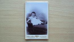 SLOVENIA LUBIANA FOTO CARTONATA ORIGINALE D'EPOCA BIMBO IN POSA FOTOGRAFO LANDAU LAIBACH LJUBLJANA - Foto