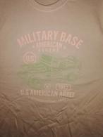 T SHIRT Beige US MILITARY BASE AMERICAN LEGEND 1942 JEEP Tailles S à XXL Tee Militaria - Vehicles