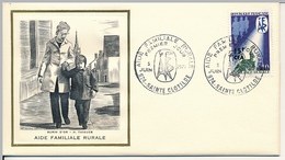 FRANCE-REUNION - Enveloppe FDC Thiaude - Aide Familiale Rurale - 5/6/1971 - Covers & Documents
