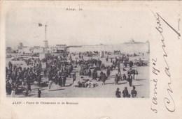 Cpa ALEP FOIRE DE CHAMEAUX ET DE MOUTONS 1902 - Syrie