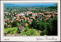 Austria Gotzis 1993 / Rheintal - Vorarlberg / Panorama, Church - Götzis