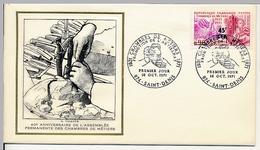 FRANCE-REUNION - Enveloppe FDC Thiaude - Chambre Des Métiers - Artisanat - 16/10/1971 - Reunion Island (1852-1975)