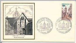 FRANCE-REUNION - Enveloppe FDC Thiaude - Riquewihr - 28/8/1971 - Covers & Documents