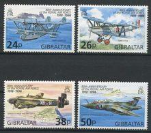 Gibraltar 1998 N° 827/830 ** Neufs MNH Superbes C 7 € Avions Planes Royal Air Force Saro London Hawker Siddel Transports - Gibraltar