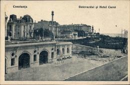 Cp Constanța Konstanza Rumänien, Bulevardul Si Hotel Carol - Rumänien