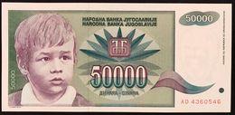 YUGOSLAVIA JUGOSLAVIA  50000 Dinara 1992  FDS / UNC Lotto.130 - Jugoslavia