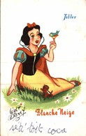 CARTE POSTALE PUBLICITAIRE CHOCOLATS TOBLER  WALT-DISNEY  BLANCHE NEIGE - Disney