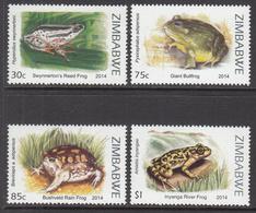 2014 Zimbabwe Frogs Amphibians  Complete Set Of 4 MNH - Zimbabwe (1980-...)