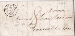 20304# LETTRE Datée Des FORGES DE ... Obl MONTHERME 1846 T15 ARDENNES Pour SOURDEVAL LA BARRE T14 MANCHE - 1801-1848: Precursors XIX