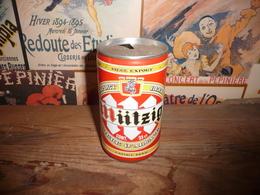 Canette De Bière Beer Birra  33 Cl  Bière D Alsace MUTZIG - Cannettes