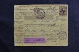 ITALIE - Bulletin De Colis Postal De Napoli Pour L' Allemagne En 1897 - L 41140 - 1878-00 Humbert I.