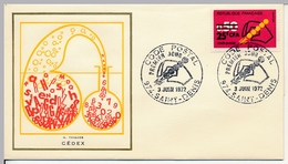 FRANCE-REUNION - 2 Enveloppes FDC Thiaude - Code Postal - 3/6/1972 - Reunion Island (1852-1975)