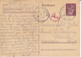 Entier Postal 15 Pfg Hitler De 1944 ,censure Pour La France - Germany