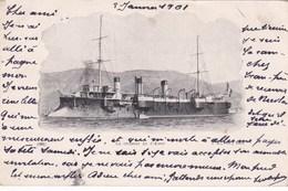 Cpa LE CROISEUR LE D ASSAS 1901 - Guerre