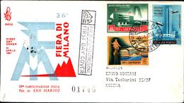 13216a)F.D.C.SAN Marino   Fiera Di Milano - 12 Aprile 1958 - FDC