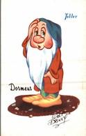 CARTE POSTALE PUBLICITAIRE CHOCOLATS TOBLER  WALT-DISNEY  DORMEUR - Disney