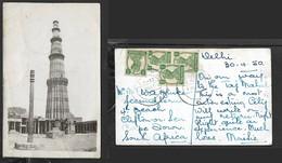 India, The Iron Pillar, Delhi, Used, 36 Ps,  EXPTL P.O.  E.P.-32  1 MAY 1950 > S.Africa - India