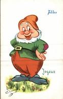 CARTE POSTALE PUBLICITAIRE CHOCOLATS TOBLER  WALT-DISNEY  JOYEUX - Disney