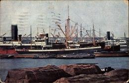 Cp Bremerhaven, Blick Auf Den Hafen, Dampfer, Segelschiffe, Verpackte Fracht - Deutschland