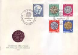 Svizzera 1964 - FDC Antiche Monete - Storia Postale