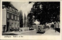 Cp Großkayna Braunsbedra Saxe Anhalt, Partie An Der Post, Bus - Duitsland