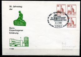 """Germany 1985 Privatganzsache Kopenhagener Erklärung Mi.Nr.PU ???? Mit SST""""Schleswig-30 Jahre Kopenhagener Erklä""""1GS Used - [7] République Fédérale"""