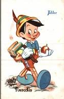 CARTE POSTALE PUBLICITAIRE CHOCOLATS TOBLER  WALT-DISNEY  PINOCCHIO - Disney