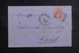 ITALIE - Lettre De Livorno Pour La Belgique En 1868, Affranchissement Plaisant - L 41150 - 1861-78 Vittorio Emanuele II