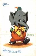 CARTE POSTALE PUBLICITAIRE CHOCOLATS TOBLER WALT-DISNEY  ELMER - Disney
