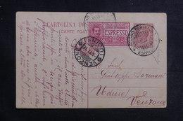 ITALIE - Entier Postal + Complément De Milano En Exprès Pour Venzone En 1916 - A Voir - L 41152 - Interi Postali