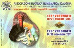 B 2612 - Calendarietto, Veronafil Verona Filatelia - Calendars