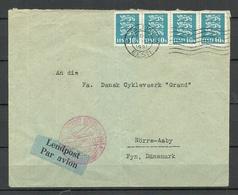 Estland Estonia 1931 Flugpost Air Mail Cover To Denmark Commercial Cover - Estonia