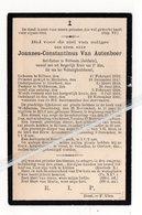 JOANNES -CONSTANTINUS VAN AUTENBOER ° RILLAAR 1822 + WEBBECOM 1903/ ONDERPASTOOR BIERBEEK/ PASTOOR WEBBECOM - Santini