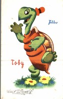 CARTE POSTALE PUBLICITAIRE CHOCOLATS TOBLER  WALT-DISNEY  TOBY - Autres