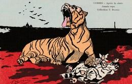 CPA Caricature Satirique Politique COMBES Anti-Clérical Anti-Cléricalisme Tigre Illustrateur T. BIANCO (2 Scans) - Satiriques