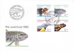 Svizzera 1995 - FDC Pro Juventute, Angelo E Animali - FDC