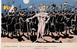 CPA Caricature Satirique Politique COMBES Le Vrai Complot (Mad. Angot)  Illustrateur T. BIANCO (2 Scans) - Satiriques