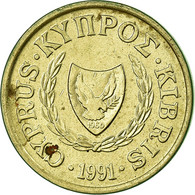 Monnaie, Chypre, Cent, 1991, TTB, Nickel-brass, KM:53.3 - Cyprus