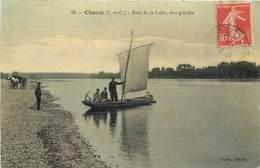 CPA 41 Loir Et Cher Chouzy Bord De La Loire Rive Gauche Bords Attelage Carte Toilée - France