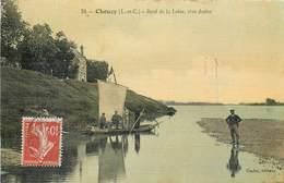 CPA 41 Loir Et Cher Chouzy Bord De La Loire Rive Droite Bords Carte Toilée - France