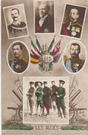 CPA Militaria Militaire Patriotique 1915 Les Alliés Pays Amis Dirigeant Politique  (2 Scans) - Patrióticos