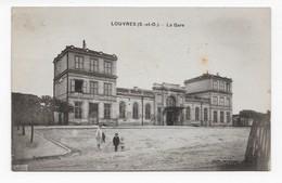 95  LOUVRES  LA GARE  . 2 SCANS TAMPON AMBULANT - Louvres